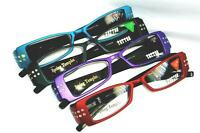 Tattoo Readers Finest Glasses In Red Teal Black And Purple Last Of Stock