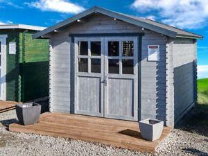 Fußboden Im Schuppen ~ Gartenhaus 28mm 300x300 cm 3x3 m gerätehaus schuppen blockhaus inkl