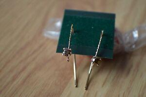0-34ct-Cognac-Diamond-Earwire-Earrings14K-Gold-Filled-Nice