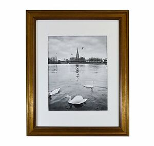 11x14 Photo Frame Dark Gold Color With Real Glass And