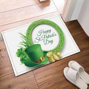 Símbolo verde del día de San Patricio Antideslizante Para Exterior E Interior Puerta Alfombra de baño