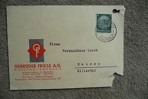 sehr alte Postkarte v. 09.05.1939 mit Hindenburg 6 Pfennig grün,Kirschau Sachsen - Raum Stuttgart, Deutschland - sehr alte Postkarte v. 09.05.1939 mit Hindenburg 6 Pfennig grün,Kirschau Sachsen - Raum Stuttgart, Deutschland
