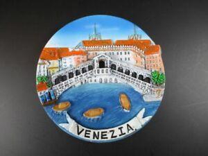 Venice-Rialto-Bridge-Collection-Plate-10-CM-Poly-Italy-Italy-Travel-Souvenir-New