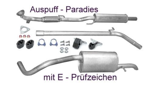 Anbaukit 6C  60 /& 70PS bis Bj.05//2014 Abgasanlage Auspuff VW Polo V 1.2 Typ 6R