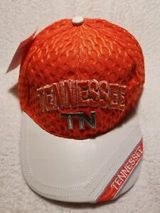 Orange-Tennessee-Volunteers-Embroidered-Baseball-Hat-Cap-Adjustable-Strap