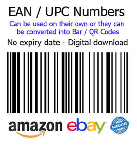 EAN / UPC Number Bar / QR code for eBay and Amazon - 1p Auction (OS-047)