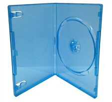Clear Blue DVD Disc Replacement Cases Standard 14mm Case S/h