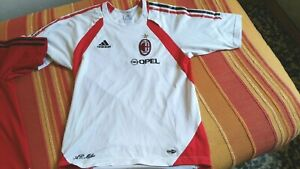 Details about t shirt allenamento AC Milan sponsor OPEL adidas bianca