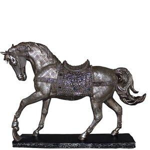 16 silver horse statue figurine horse figurine horse statue horse decor. Black Bedroom Furniture Sets. Home Design Ideas