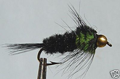 1 x Mouche peche Nymphe Montana  Bille H8//10//12//14 mosca fly bead nymph
