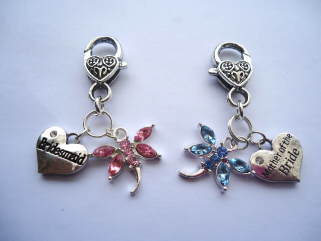 DRAGONFLY MOTHER of the BRIDE/GROOM, BRIDESMAID CHARM ... WEDDING  PARTY FAVOUR