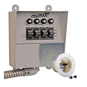 about Reliance Controls 15-Amp (120V 4-Circuit) Indoor Transfer Switch