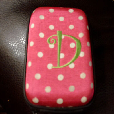 6th Gen Pink Polka Dot Stripe Hard Diamond Bling Case Cover for iPod Touch 5th