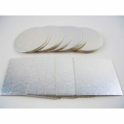 """White Cake Boxes and Boards 10/""""12/""""14/""""16/"""" Wedding Birthday,Boards 3mm very strong"""