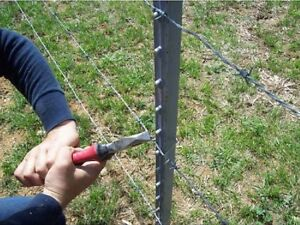 5ft Galvanized Steel Stake Studded Metal T Post Fence