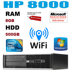 Rapide-Hp-Quad-Core-Ordinateur-PC-De-Bureau-Tour-Windows-7-Wi-Fi-8-Go-RAM-500-Go-Disque-dur