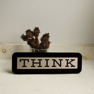 IBM-THINK-SIGN-PLAQUE-Computer-Student-Desk-Accessory-Executive-Gift-Collectible