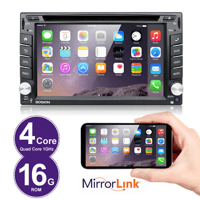 Android 6.0 Autoradio Bluetooth Navigation Doppel 2 DIN USB GPS 3G WIFI DVD USB