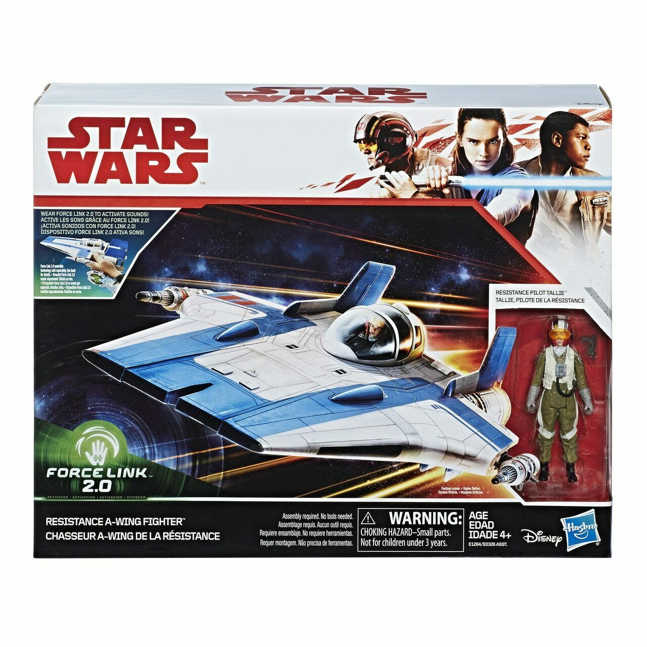 Star Wars Force Link 2.0 Resistance A-wing Fighter & Pilot Tallie Figure Toy Kid