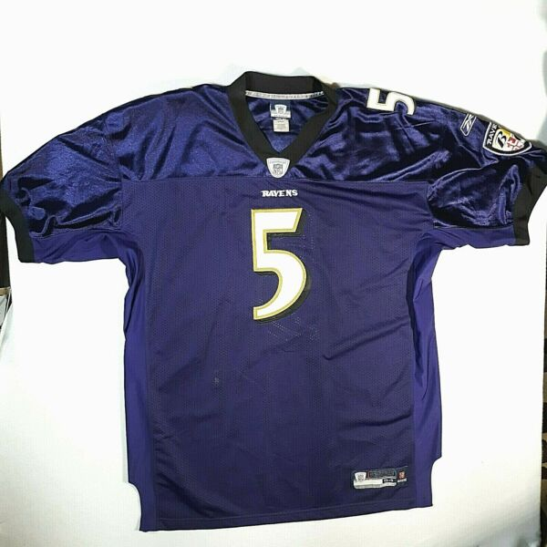 Reebok Authentic Baltimore Ravens Joe Flacco NFL Football Jersey ...