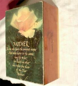 Vintage-Redwood-Wood-Jewelry-Trinket-Box-Wooden-Yosemite-Park-Mother-Souvenir