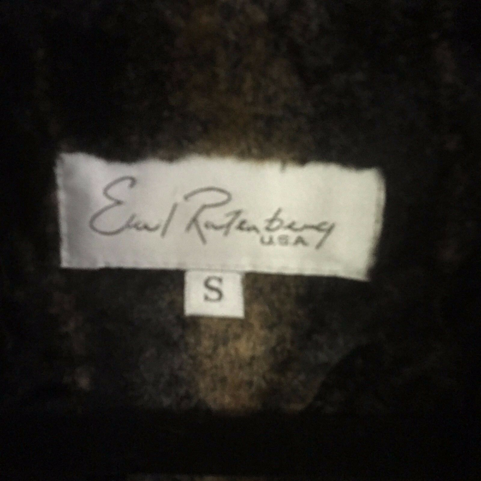 Earl Ratenburg Women's Faux Fur Vest Marbled Marbled Marbled colors Made USA Hook Close Size - S 8323d2
