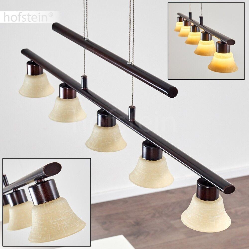 LED Pendel Lampe Luxus Hänge Beleuchtung Ess Tisch Wohn Raum Leuchte verstellbar