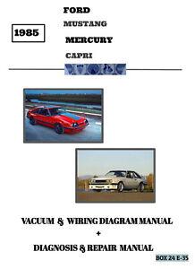 1985 MUSTANG & CAPRI Vacuum & Wiring Diagram Manual + Diagnosis Repair    eBayeBay