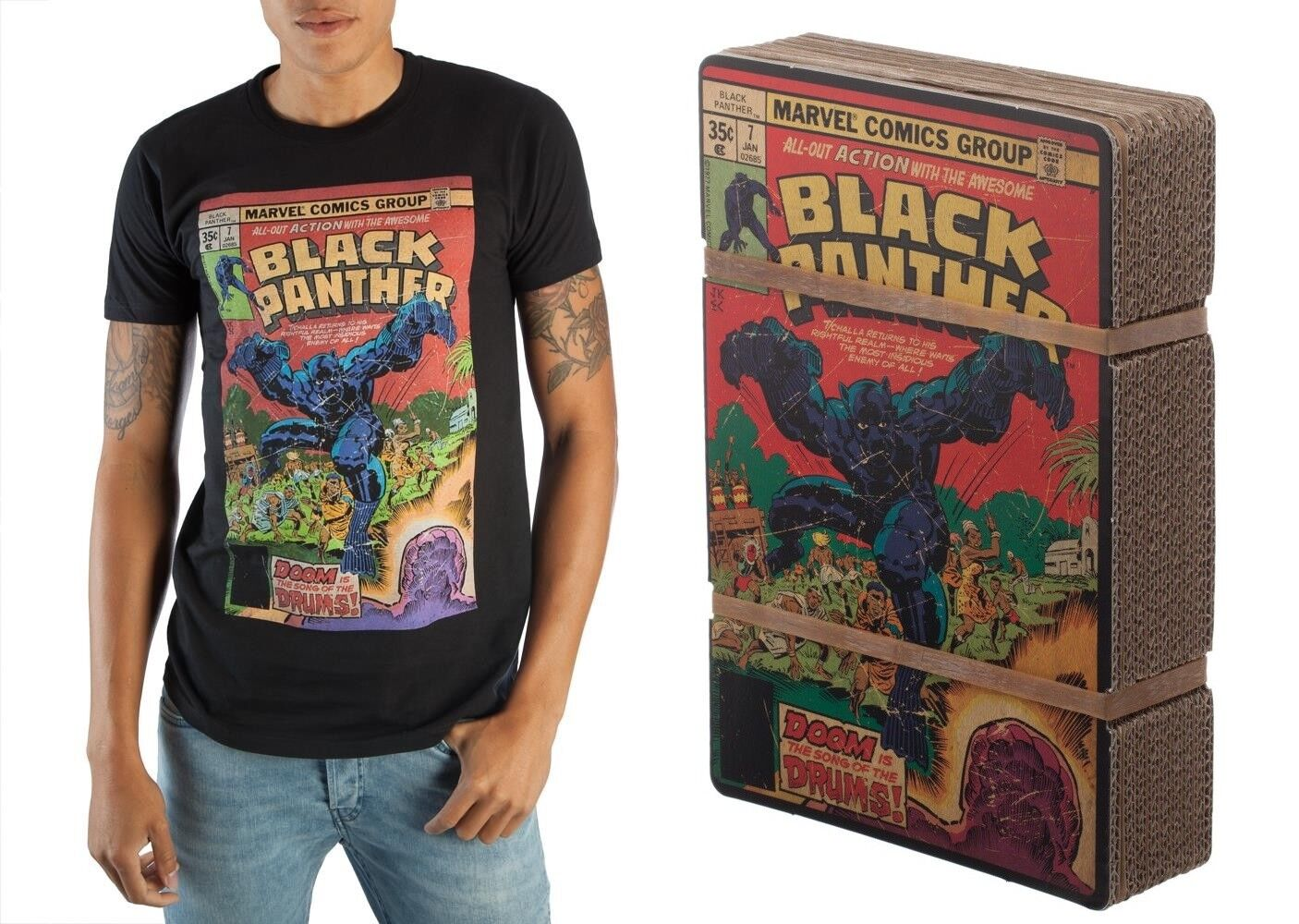 The Black Panther #7 Comic Book Cover Marvel Comics Distressed T-Shirt
