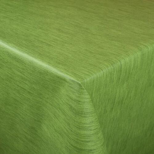 Wachstuch Tischdecke P733-2 Leinen geprägt grün eckig rund oval