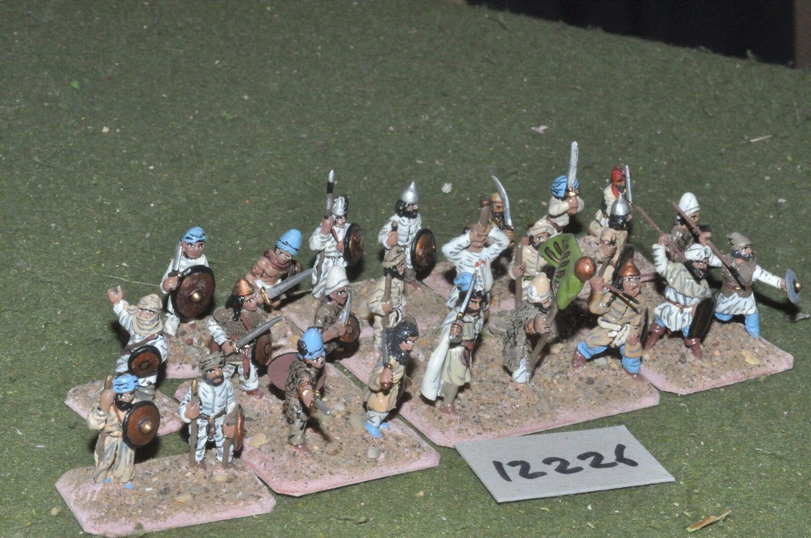 25mm classical   persian - ancient spearmen 24 figs - inf (12226)