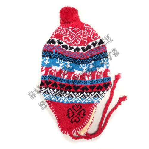 3x Winter Peruvian Ear Flap Ski Hat Beanie Cap Snow Women/'s Patterns To Pick