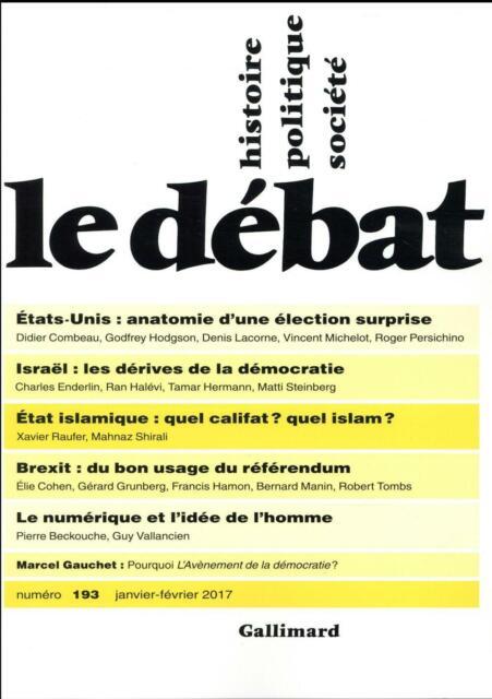 revue Le Débat N.193 ; janvier 2017