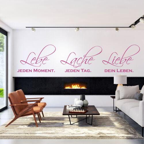 Wandtattoo Lebe Lache LiebeSpruch Modern Deko Idee Wohnzimmer Leben Zitat