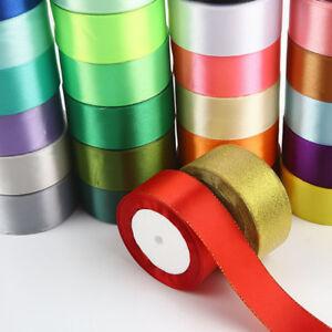 25-Yards-Vintage-Satin-Silk-Ribbon-Embroidered-Trim-Wedding-Sewing-Craft-40-mm