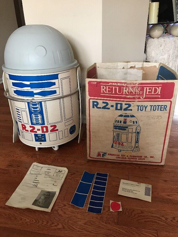 Star Wars R2-D2 Jouet Toter (1983 Toy Box) Open Box, est utilisé presque complet