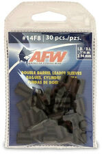 AFW American Fishing Wire J14F8B-B #14F8 Double Barrel Sleeves Black 30pc