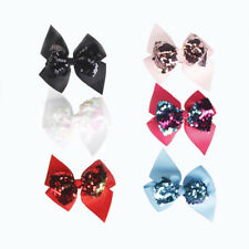Kids Baby Girls Candy Color Hair Clips Princess Sequins Bowknot Hairpin Hair