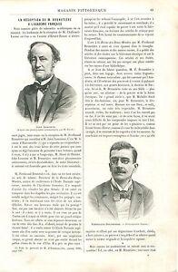 Reception-de-Ferdinand-Brunetiere-Academie-Francaise-a-Paris-GRAVURE-PRINT-1894