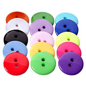 Wholesale-100Pcs-Mix-Color-Round-Resin-Buttons-Scrapbooking-Sewing-Craft-Kit-AU