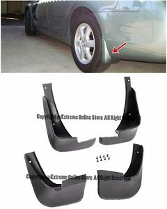 for 03 08 toyota corolla front rear fender mud flaps. Black Bedroom Furniture Sets. Home Design Ideas