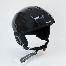 KOMBI BROMLEY Ski Snowboard Helmet Black Gloss Unisex. Mens Medium, Womens Large