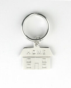 New-Home-Key-Ring-Solid-Silver-Hallmarked-Handmade