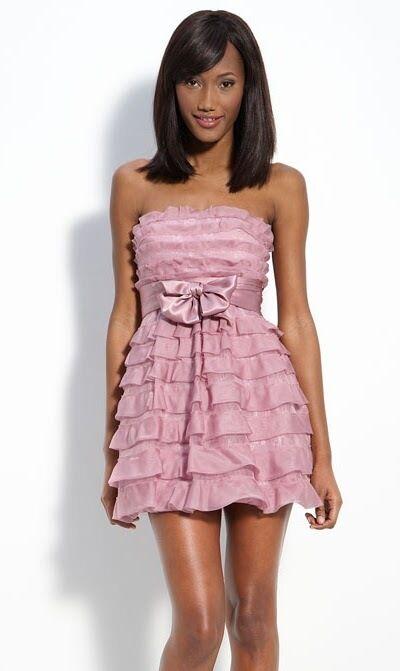 398 BCBG MAXAZRIA Light Plum Mignon Tiered Silk Organza Strapless Dress 10