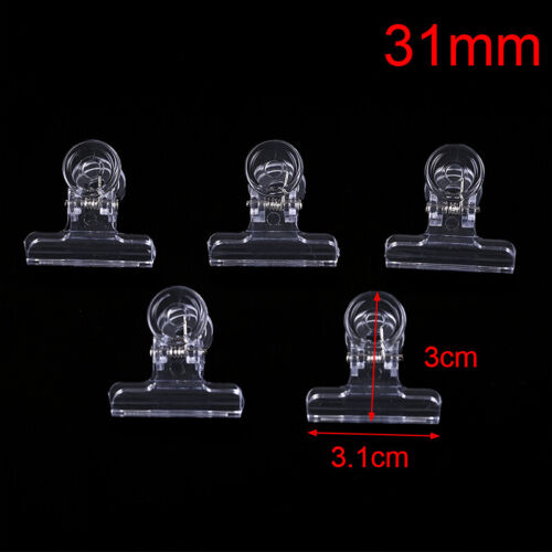 5PCS Clear Fly Tying Feather Clips Hackle Holding Tools Fly Fishing Accessor RHC