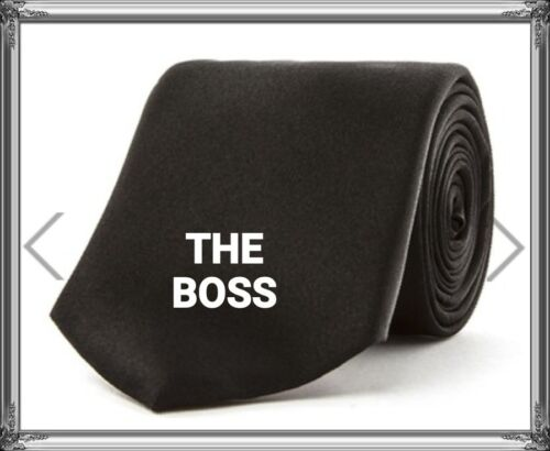 Personalised EMBROIDERED ties director  BOSS office gift birthday dad brother