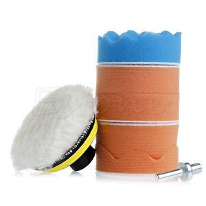 """7x 3 /""""tampon de polissage auto Kit de meulage de roue avec adaptateur de OPFR"""