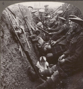 WW1-Seaforth-Highlanders-amp-Dog-Snatch-Some-Respite-From-a-Hun-Sniper-in-a-Trench