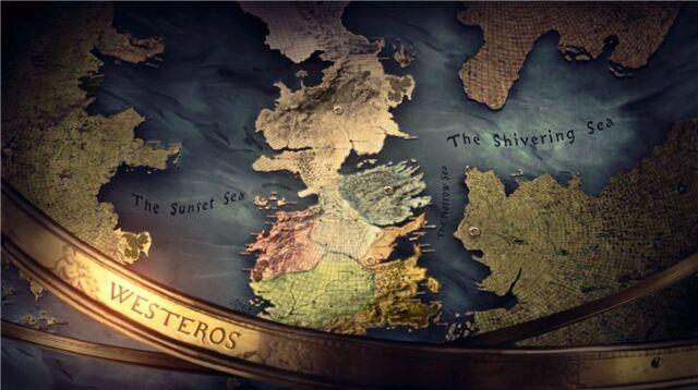 "TV Show Season Drama Series Map Fabric Poster 48x24/""  G52 Game of Thrones"