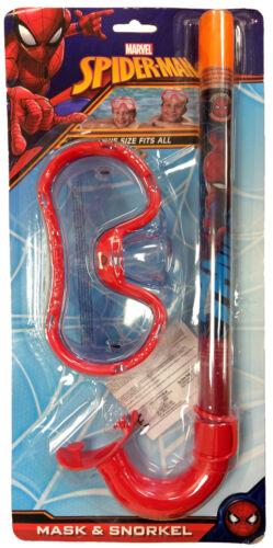 Kinder Spiderman Schnorchel & Brille Tauchmaske Marvel Schwimmen Strand Set Kinderbadespaß